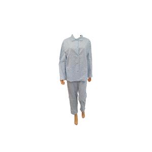Cocodream Flanel Pyjama Blaadje Blauw