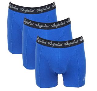 3-Pack Australian Heren boxershorts Blauw