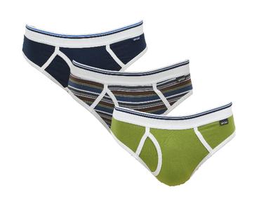 Gino Santi Sport 3-pack Jongens slips met gulp Groen