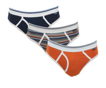 Gino Santi Sport 3-pack Jongens slips met gulp Oranje
