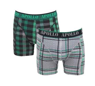 Apollo 2-Pack Heren boxershorts Green/Black