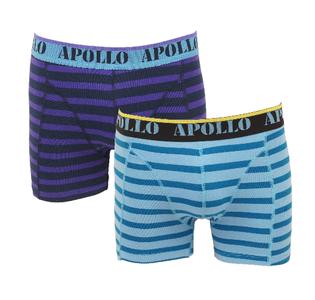 Apollo 2-Pack Heren boxershorts Paars/Bleu