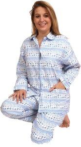 Cocodream Flanel Pyjama Hart Blauw