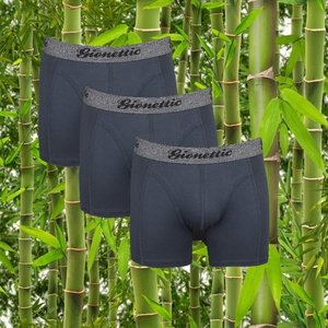3-Pack Gionettic Bamboe Heren boxershorts Antraciet