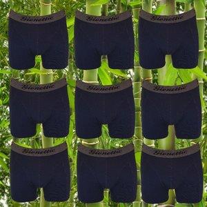 9-Pack Gionettic Bamboe Heren boxershorts Marine