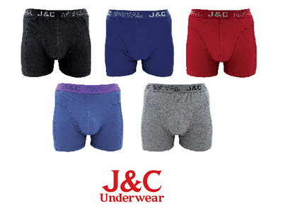 J&C 4-pack Heren boxershort H152 Mix