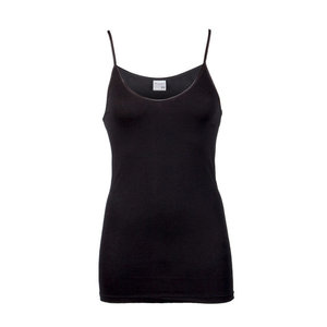 Beeren Dames hemd spaghetti bandje Comfort Feeling Zwart