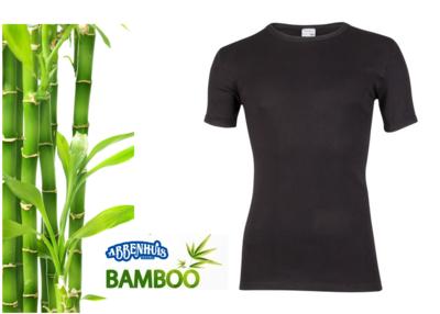 Beeren Bamboe heren T-shirt Korte Mouw Zwart