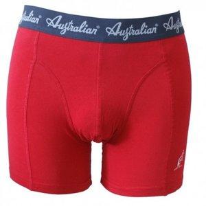 Australian Heren boxershort Rood met zwarte band
