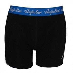 Australian Heren boxershort Zwart met blauwe band