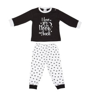 "Beeren Baby pyjama ""To the Moon"" Zwart"