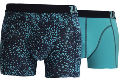 Zaccini 2-pack Heren boxershorts Summer Spray Blue