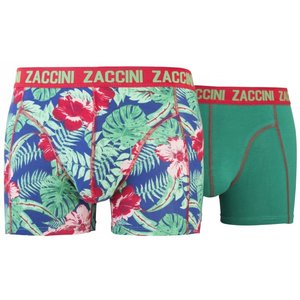 Zaccini 2-pack Heren boxershorts Flower Green/Red