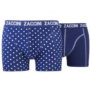 Zaccini 2-pack Heren boxershorts Navy Dots
