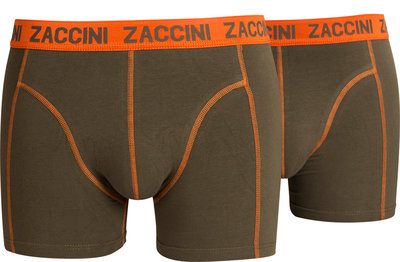 Zaccini 2-pack Heren boxershorts Army Green