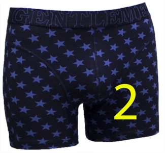 Gentlemen Heren boxershort Stars 2 Marine