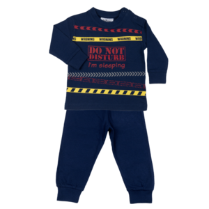 Fun2Wear Kinder pyjama Do Not Disturb Marine